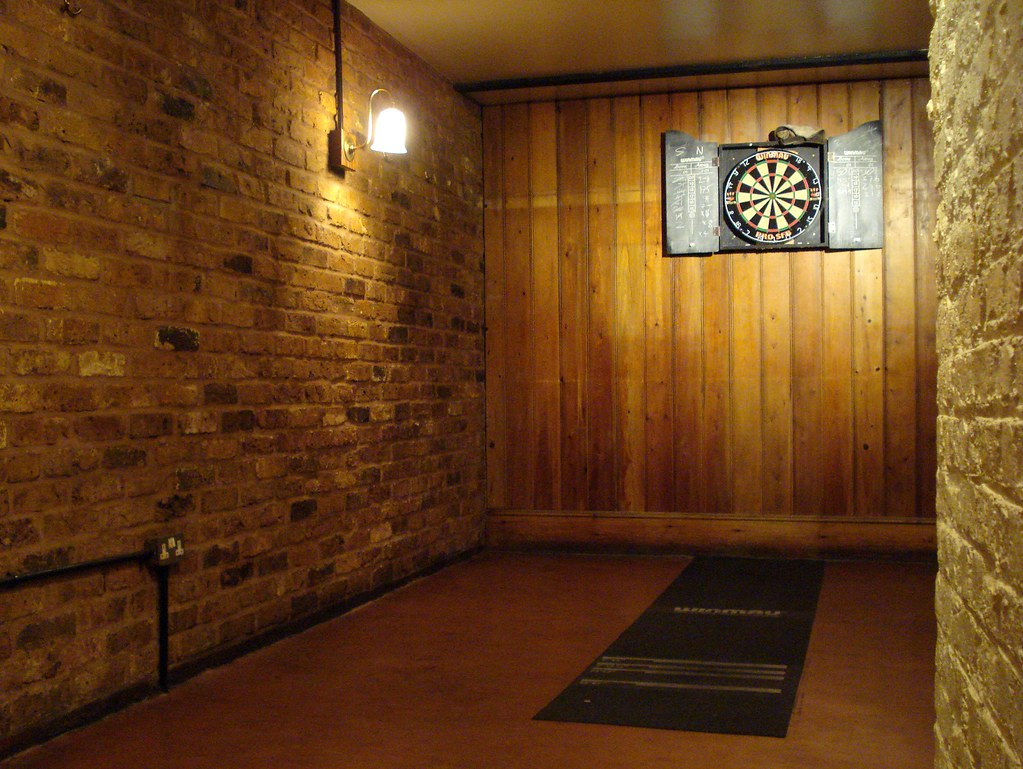 Dart Board In A Room