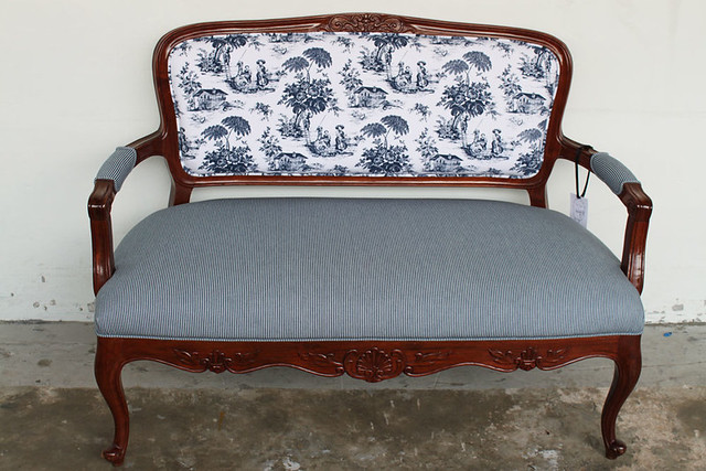 Toile Sofa Gone But Not Forgotten Cute Two Seater Sofa