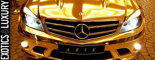 Chrome gold mercedes c63 amg in dubai article article for Gold mercedes benz price