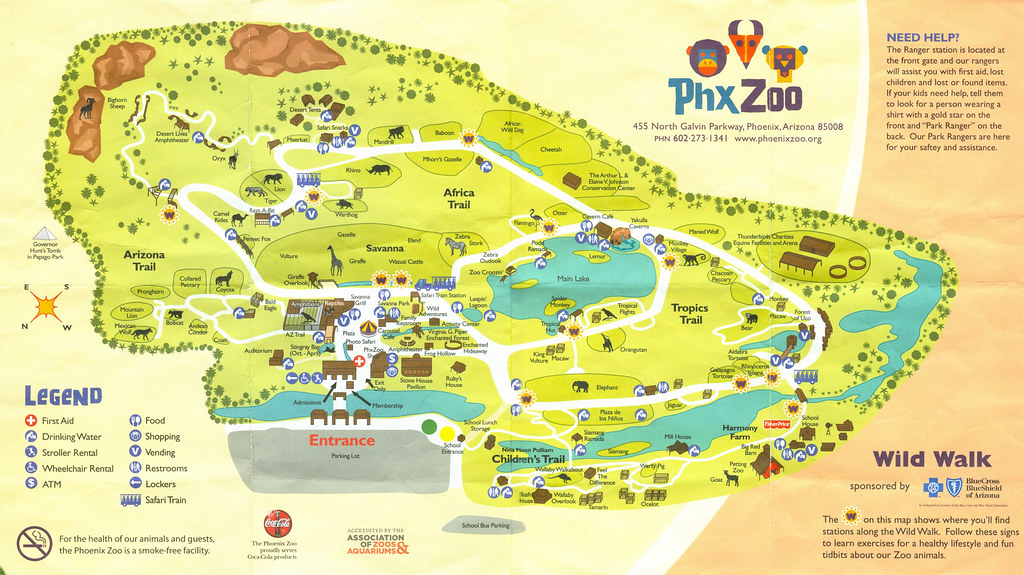 Map from the Phoenix Zoo  Here is a map of the Phoenix Zoo   Flickr