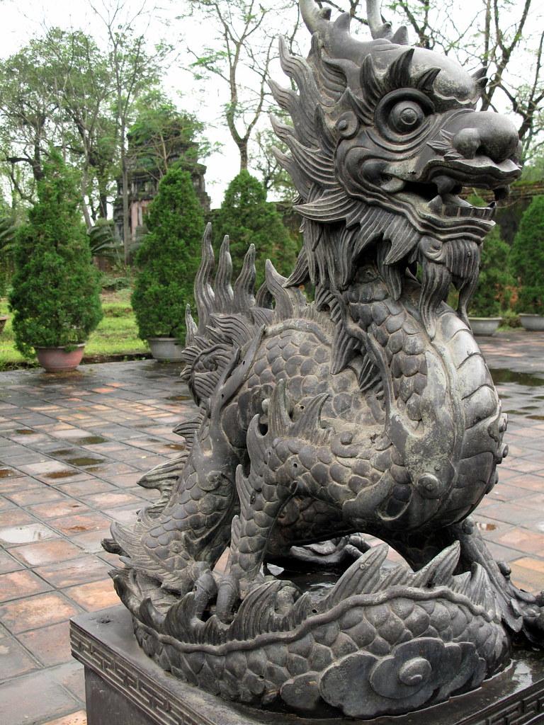 Vietnam Dragon: Stone Dragon Statue, Forbidden