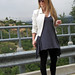 leggings+t-shirt dress+tunic+white leather jacket+pour la victoire wedges+hills 1
