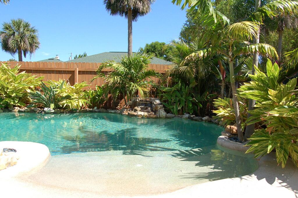 Tropical backyard landscaping ideas - Backyard Beach Jen Scheer Flickr