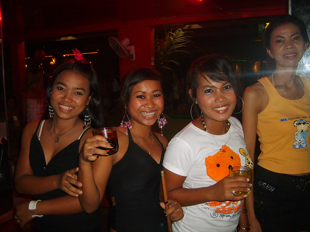 Tropicana, Sihanoukville  Cambodian Ladies In The -8472