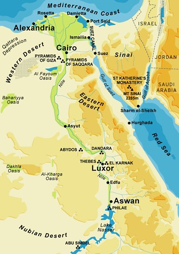 Ancient Egypt City Map This Map Shows Most Of The Cities A Flickr - Map of egypt with cities