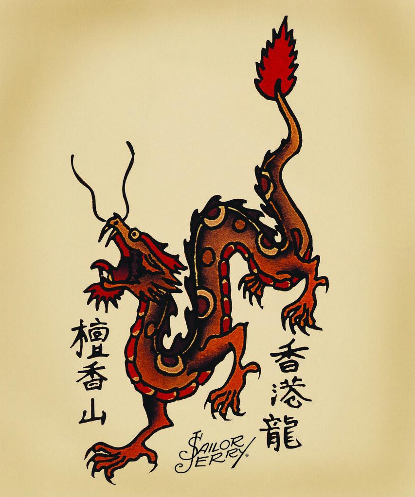 Dragon Dagger Tattoo Designs