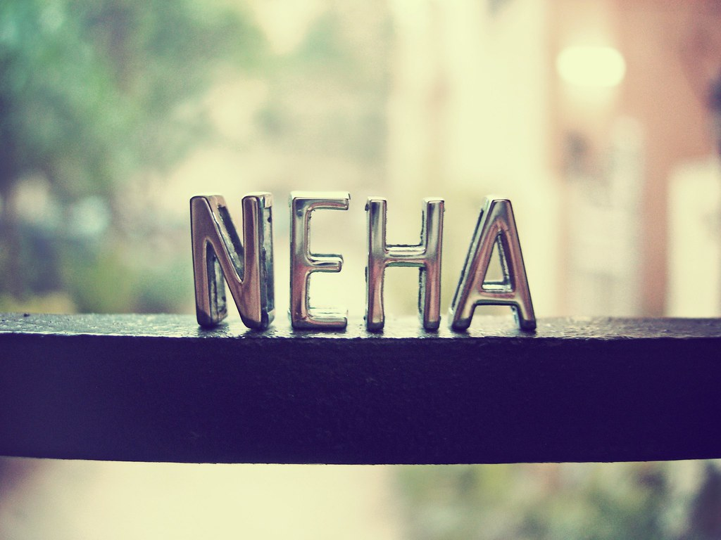 neha ne-ha it means love, in Hindi and it is my name! :D Flickr