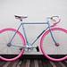 Blue Bike, Pink Wheels