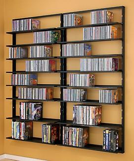 cd storage solutions using wall mount racks for cd storage flickr. Black Bedroom Furniture Sets. Home Design Ideas