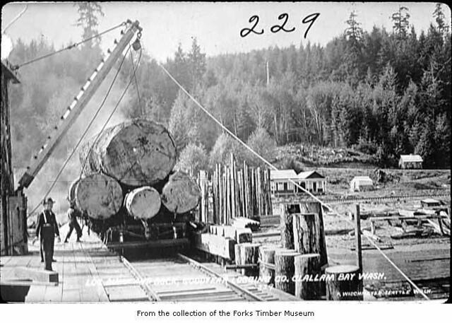 Goodyear Logging Company log dump at Clallam Bay | Creator ...