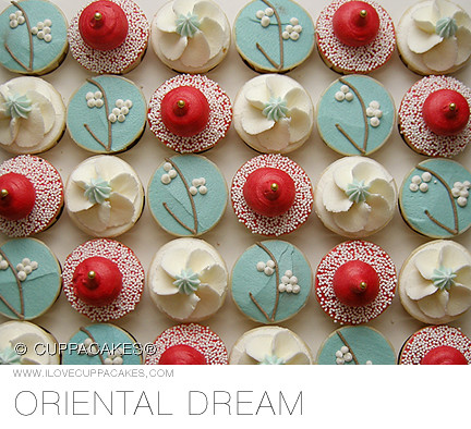 Modern Chinese New Year Cupcakes See Take The Cak Flickr