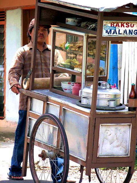 Selling Bakso Malang Traditional Food Java Indonesia