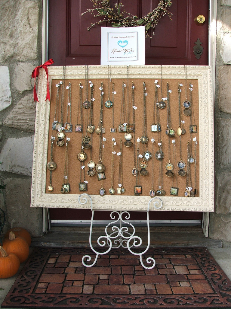 My Craft Fair Jewelry Frame Display This Corkboard