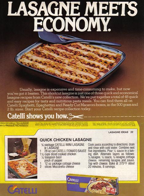 vintage ad  732  lasagne meets economy