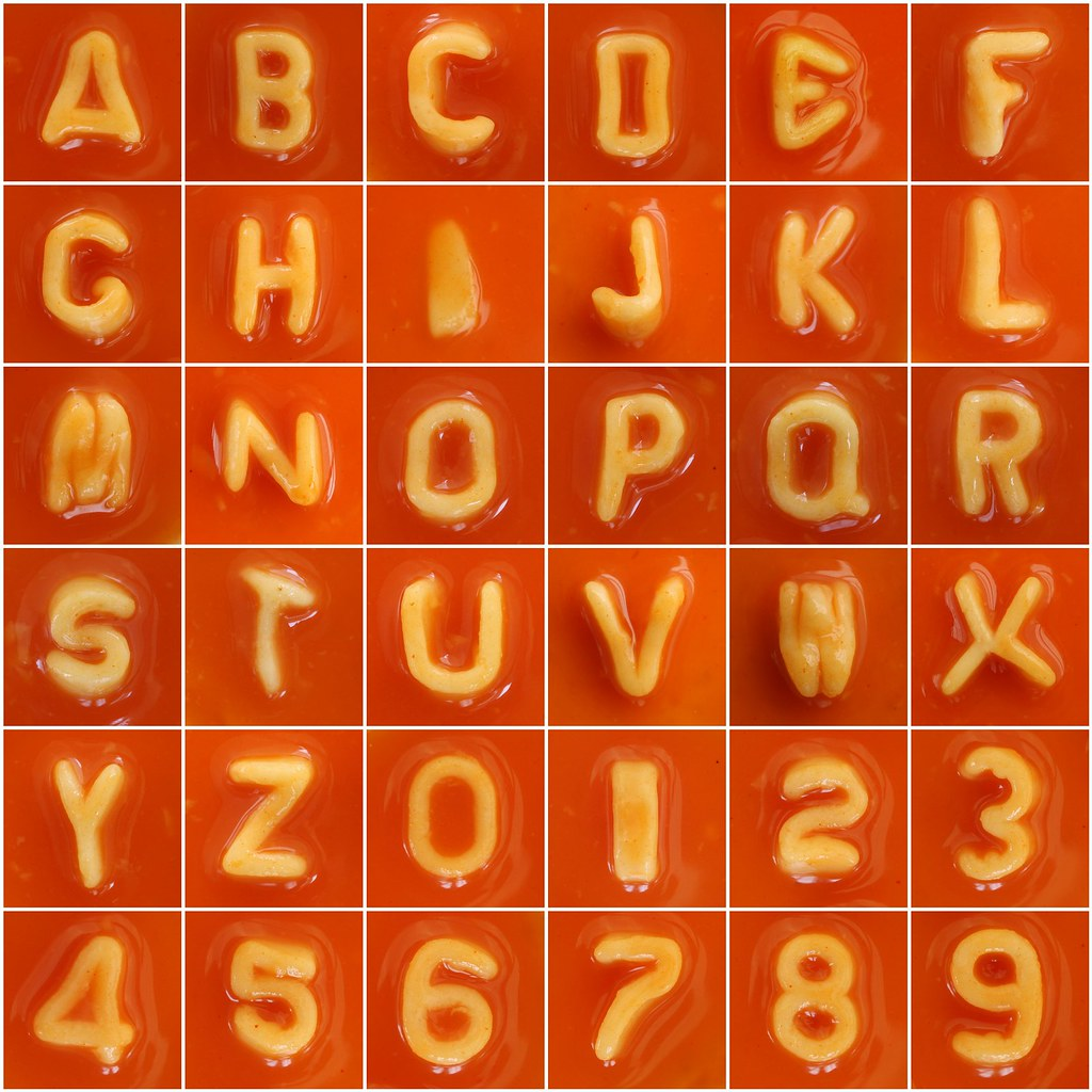 Spaghetti Letters & Numbers | Heinz Alphabetti and ...