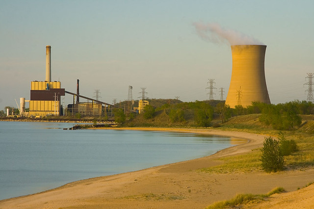 Nipsco Cooling Tower And Power Complex Michigan City Indi