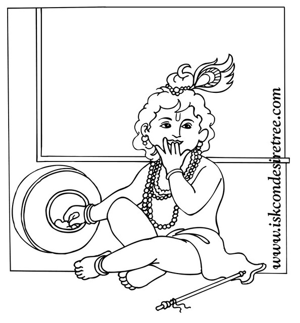 Isckon Free Coloring Pages