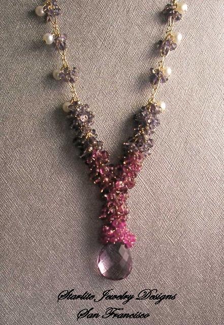 Starlite Jewelry Designs Briolette Necklace Rose de Fr Flickr