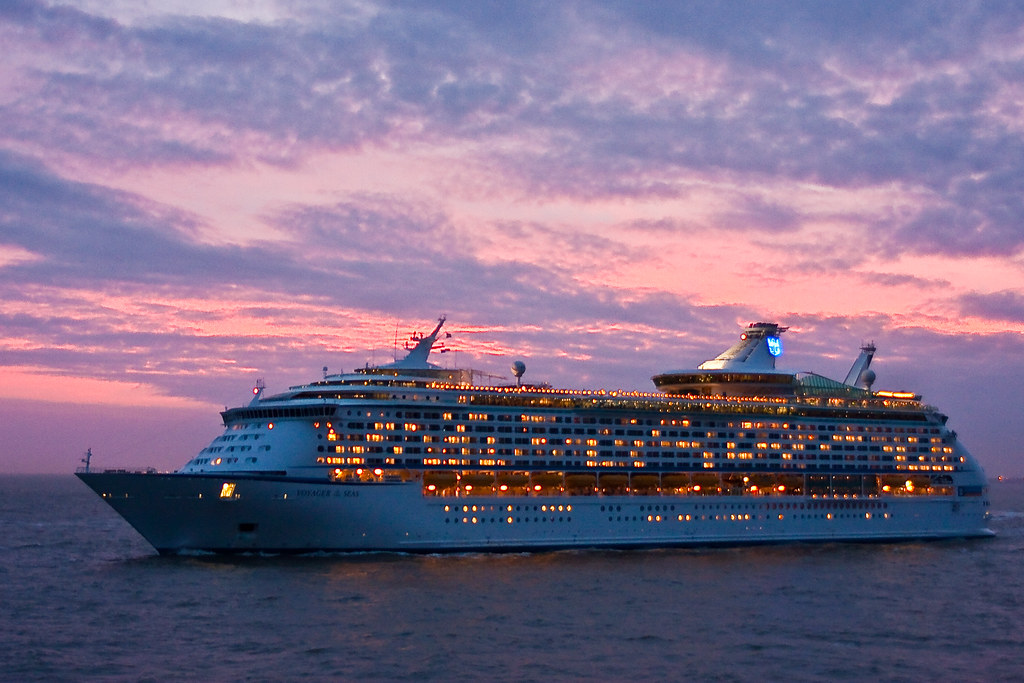 Cruise Ship At Sunset | Steven Nelson | Flickr
