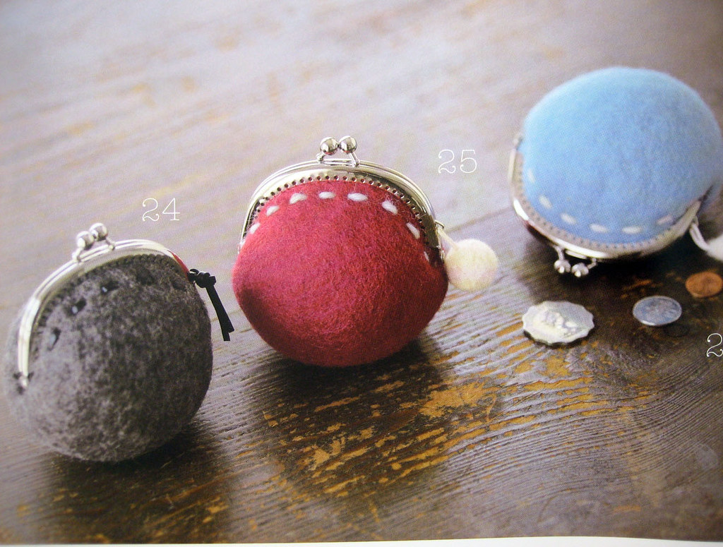 coin purse, 9784834727432 little things made of felt wool ...