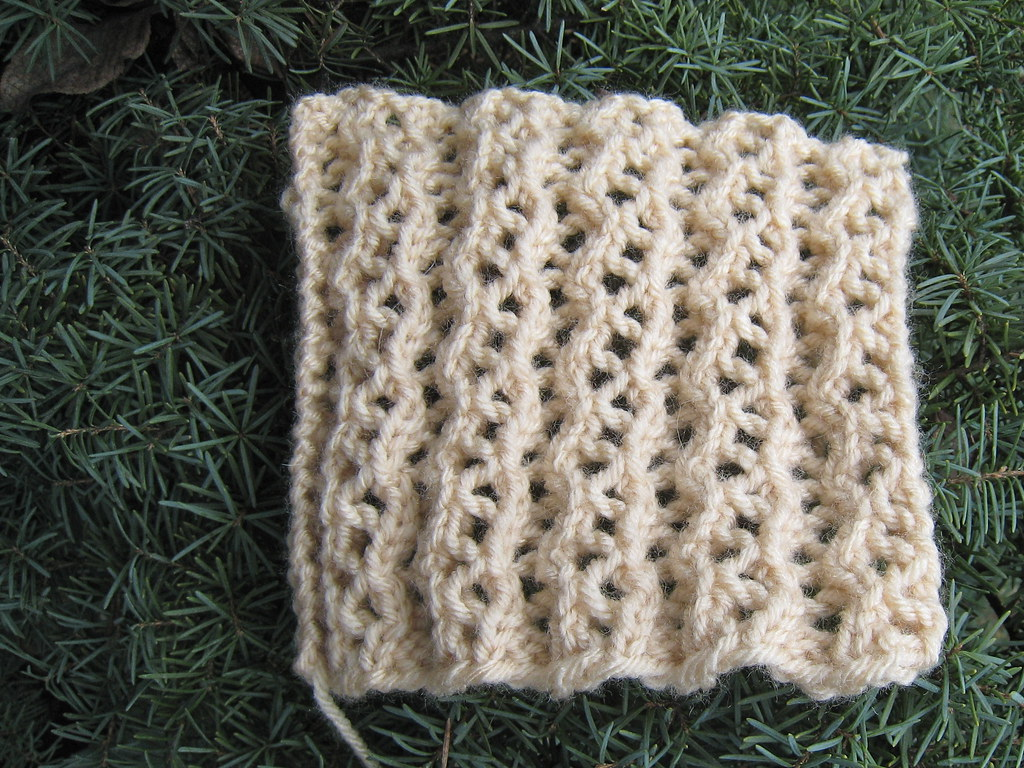 Knitting Reversible Lace Stitches : 3-row reversible lace rib I invented this stitch pattern. ? Flickr