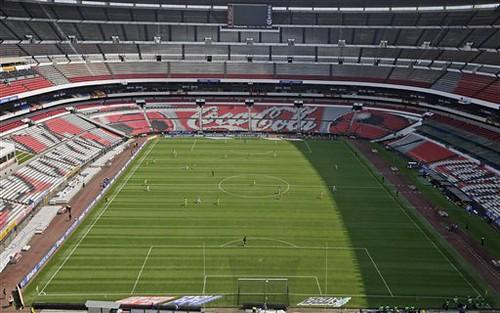 Estadio azteca aztec stadium in mexico city aztec for Puerta 1 estadio azteca