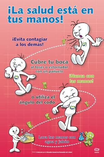 Cartel: ¡La salud está en tus manos! | Fuente: Plan ...