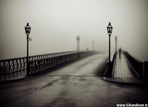 Bridge Photography Black And White Black,and,white,bridge,fog