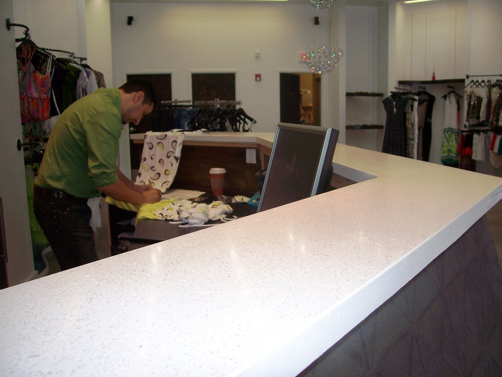 Concrete Countertop Mix : White concrete counter buddy rhodes mix