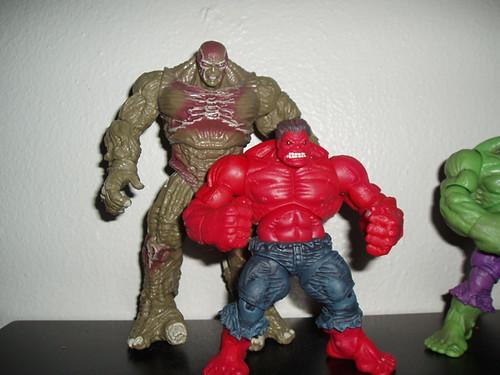 Red Hulk Vs Green Hulk Vs Gray Hulk Red hulk versus abomination