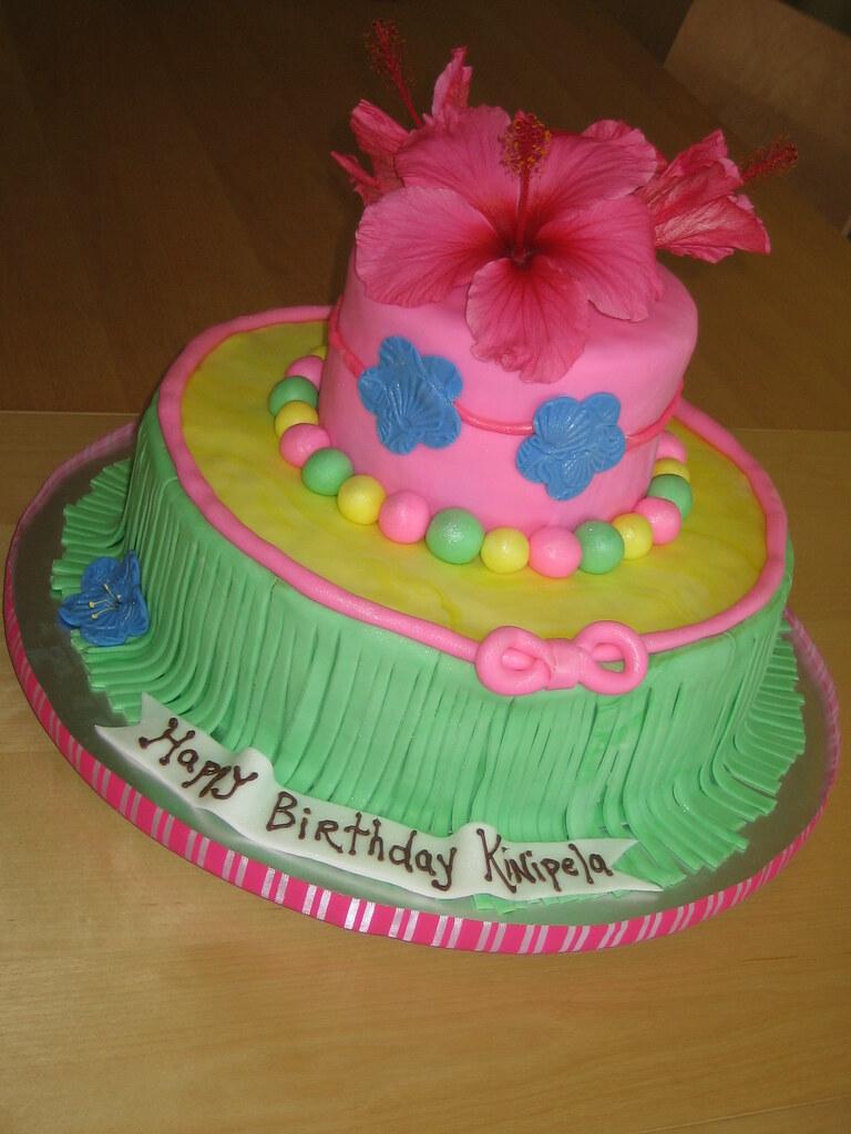 Hawaiian Luau Birthday Cake Hawaiian Luau Birthday