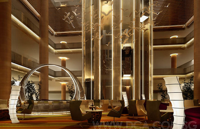 Hotel lobby 3d rendering 3d visualization services for Design hotel 3d