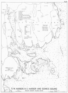 S.W. Harbor, N.E. Harbor and Somes Sound, Mount Desert Island, Maine | by uconnlibrariesmagic