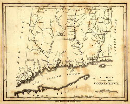 A map of Connecticut | by uconnlibrariesmagic