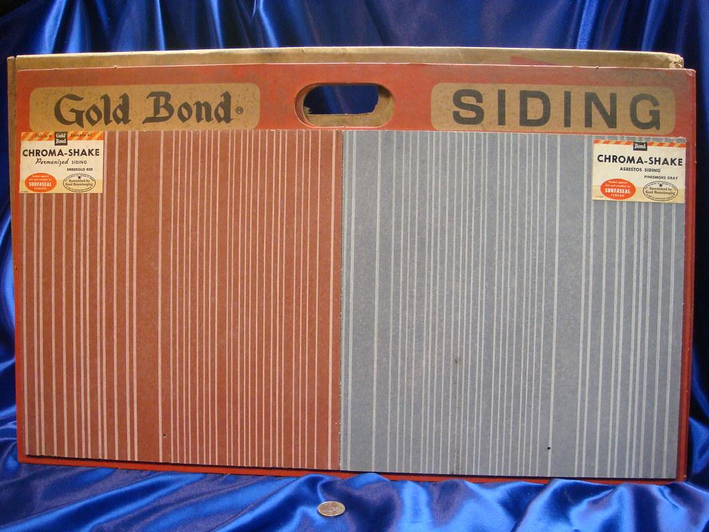 Gold Bond Asbestos Cement Siding Shingles 2 Samples Flickr