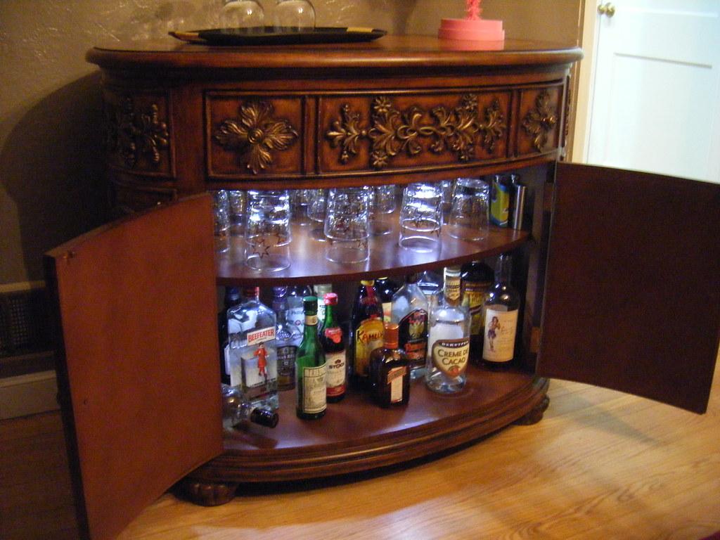 Dry bar open