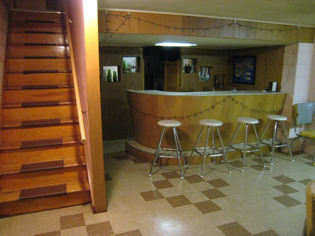 Basement Rec Area With Built In Bar Here Is Our
