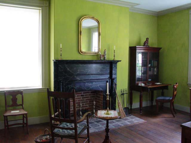Green Living Room Milk Paint In Historic Indiana Home