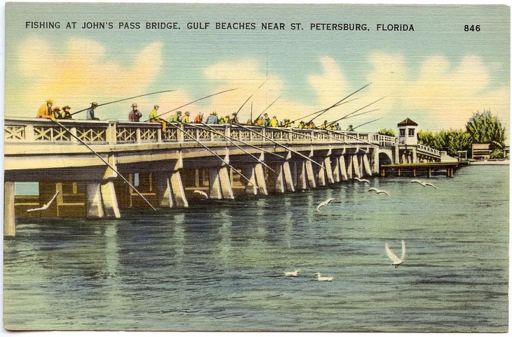 Fishing at john 39 s pass bridge gulf beaches near st for Johns pass fishing