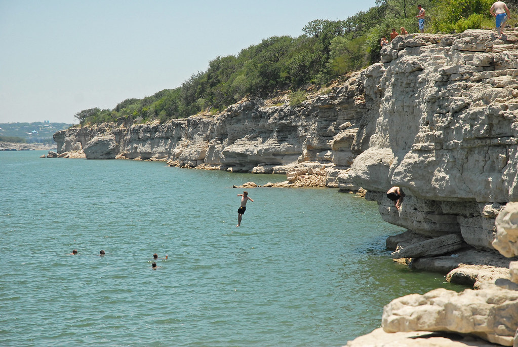 Cliff Diving At Pace Bend Park On Lake Travis This Is A
