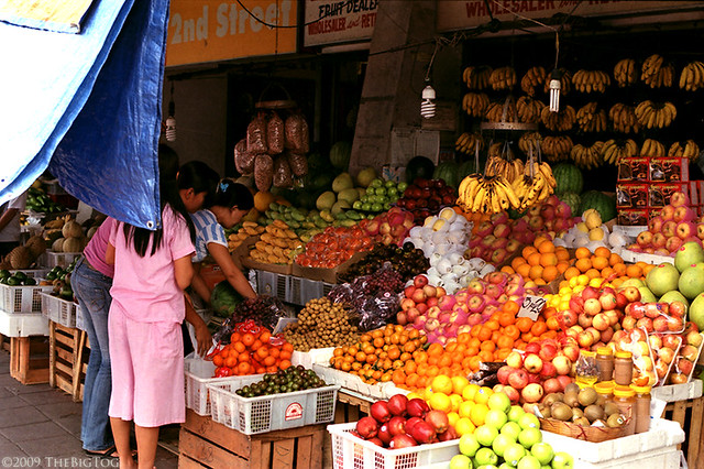 Fruit Stand Edsa Manila Philippines Just Outside The
