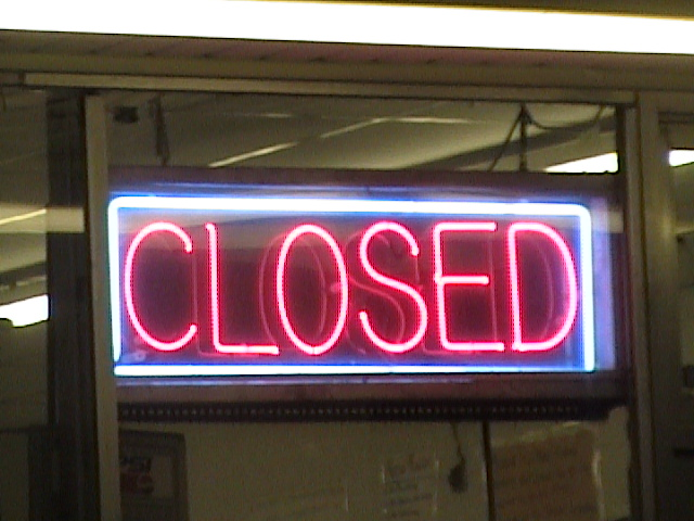 Closed Neon Sign Not A Wonderful Work Of Art In The