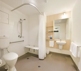 Wheelchair accessible bathroom susan flickr for Wheelchair accessible bathroom designs