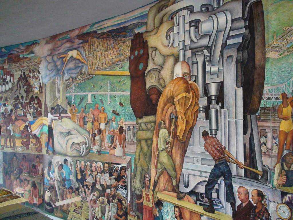 Diego rivera 39 s mural panamerican unity at san francisco for Diego rivera mural in san francisco