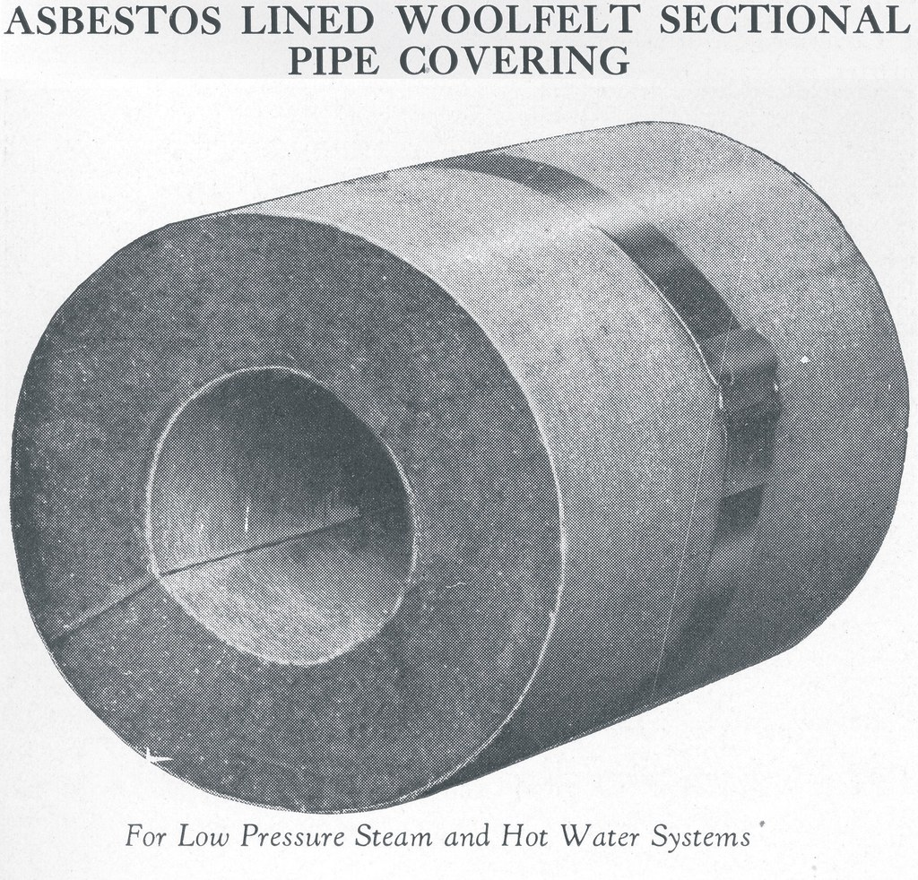 K Amp M Asbestos Lined Woolfelt Pipe Insulation Small Sample