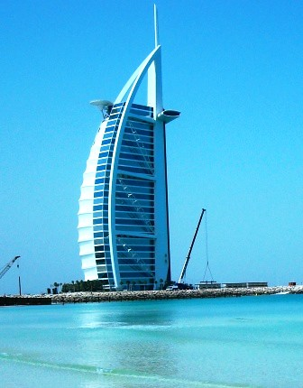 Sail sitting pretty at the sea shore a land mark of duba for The sail hotel dubai