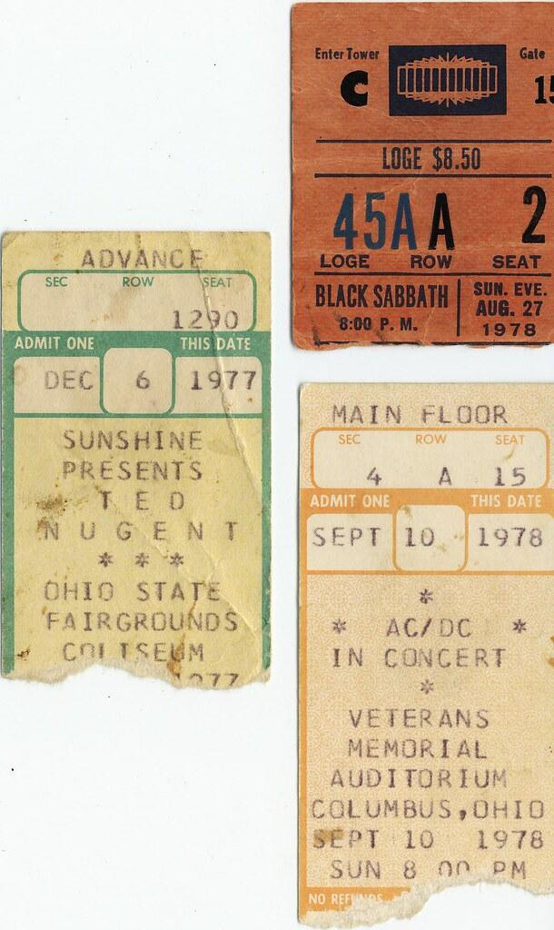 tickets black sabbath ac dc ted nugent 1977 1978 flickr. Black Bedroom Furniture Sets. Home Design Ideas