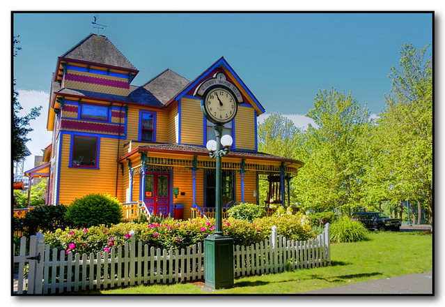 A.C. Gilbert's Discovery Village | Three brightly painted ...