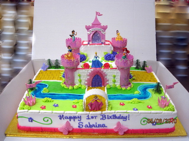 Disney Princesses and Castle Cake Full Sheet cake 12 Choc Flickr