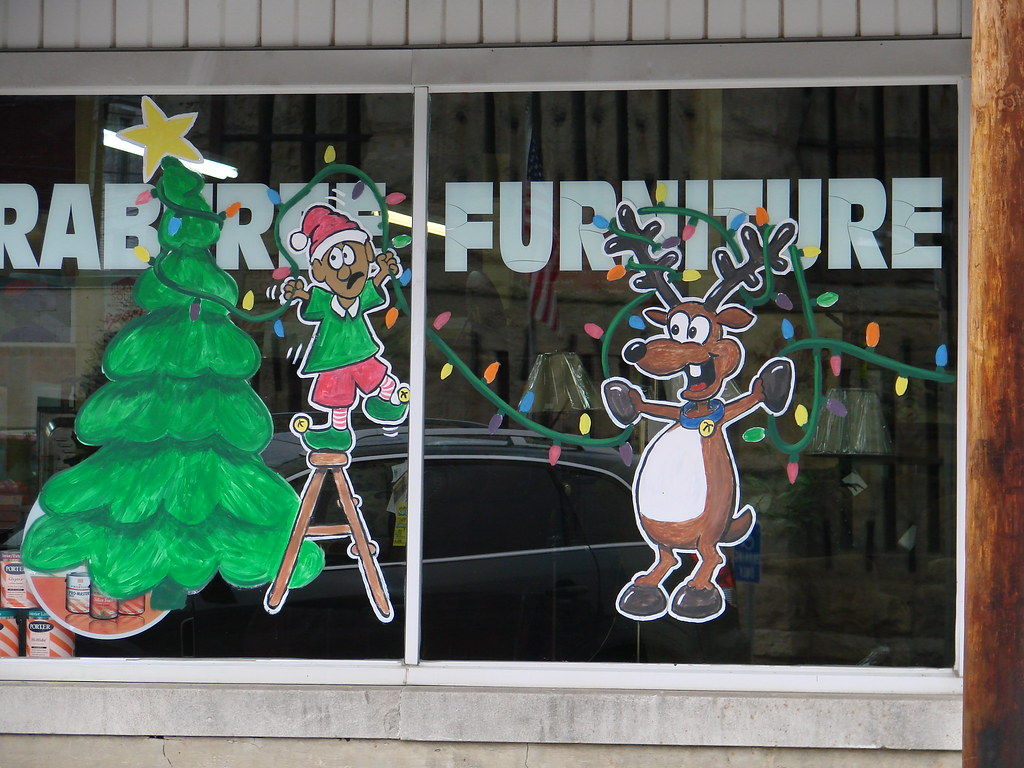 Xmas Window Painting Ideas